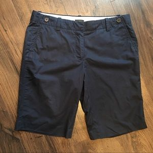 J. Crew City Fit Navy Blue Bermuda Shorts size 8